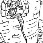 Väritys sivu Rapunzelin satu