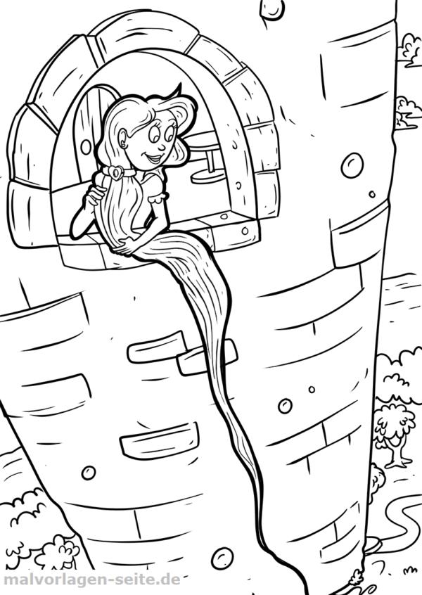 Malvorlage Rapunzel Märchen Gratis Malvorlagen Zum Download