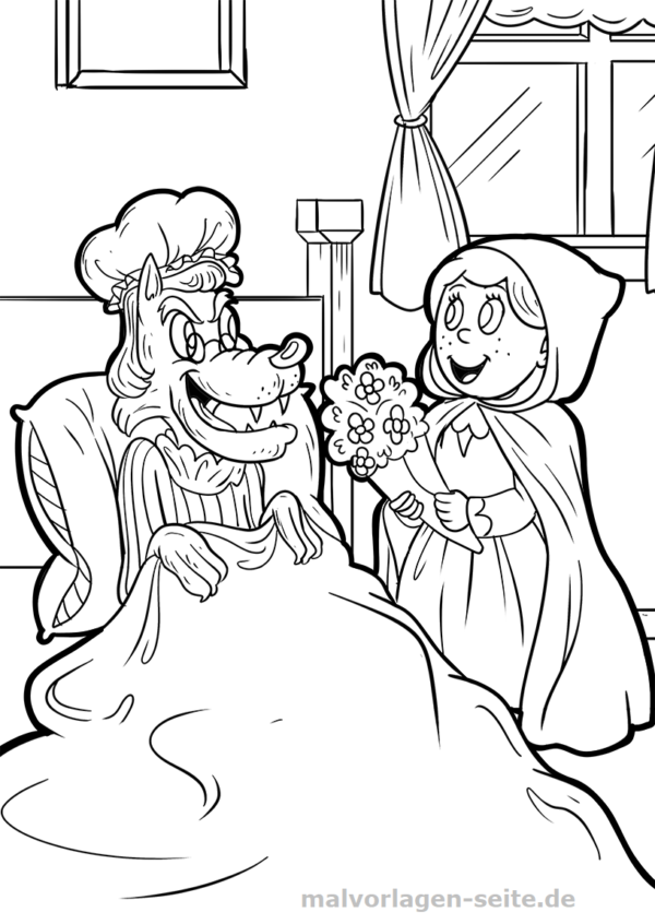 Coloring page Little Red Riding Hood fairy tale