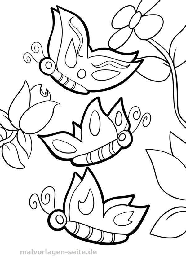 Para colorear Mariposas | Páginas para colorear gratis para descargar