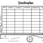 Timetable template soccer