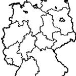 Landkarte Deutschland zum Ausmalen