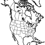 North America for coloring