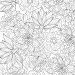 Страници за боење за возрасни - растенија и природа - Бесплатни страници за боење