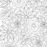 Coloring page flowers for adults
