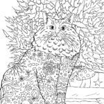 Coloring page adult - cat