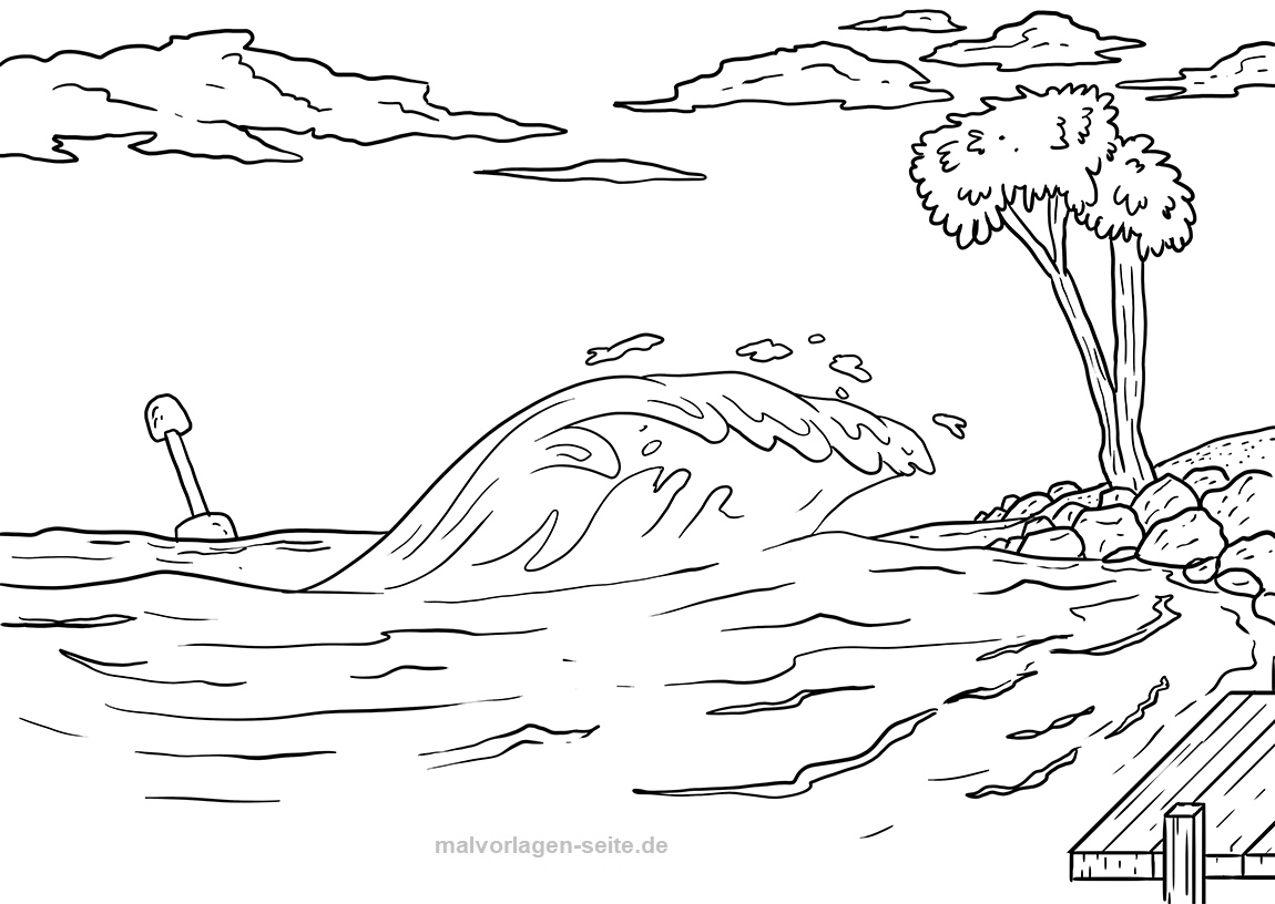 malvorlage tsunami  wetter  kostenlose ausmalbilder