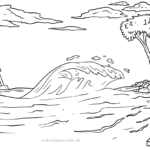 Coloring page tsunami | Weather