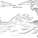 Väritys sivu tsunami | sää