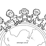 Coloring page children of this earth