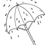 Coloring page Umbrella | Weather