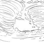 Coloring page Tornado | Weather