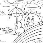 Coloring page weather