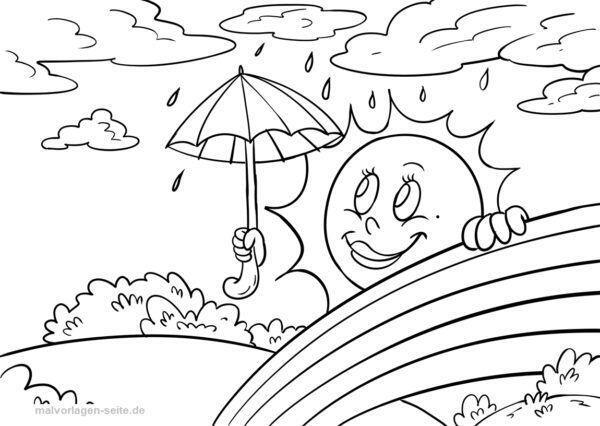 Malvorlage / Ausmalbild Wetter