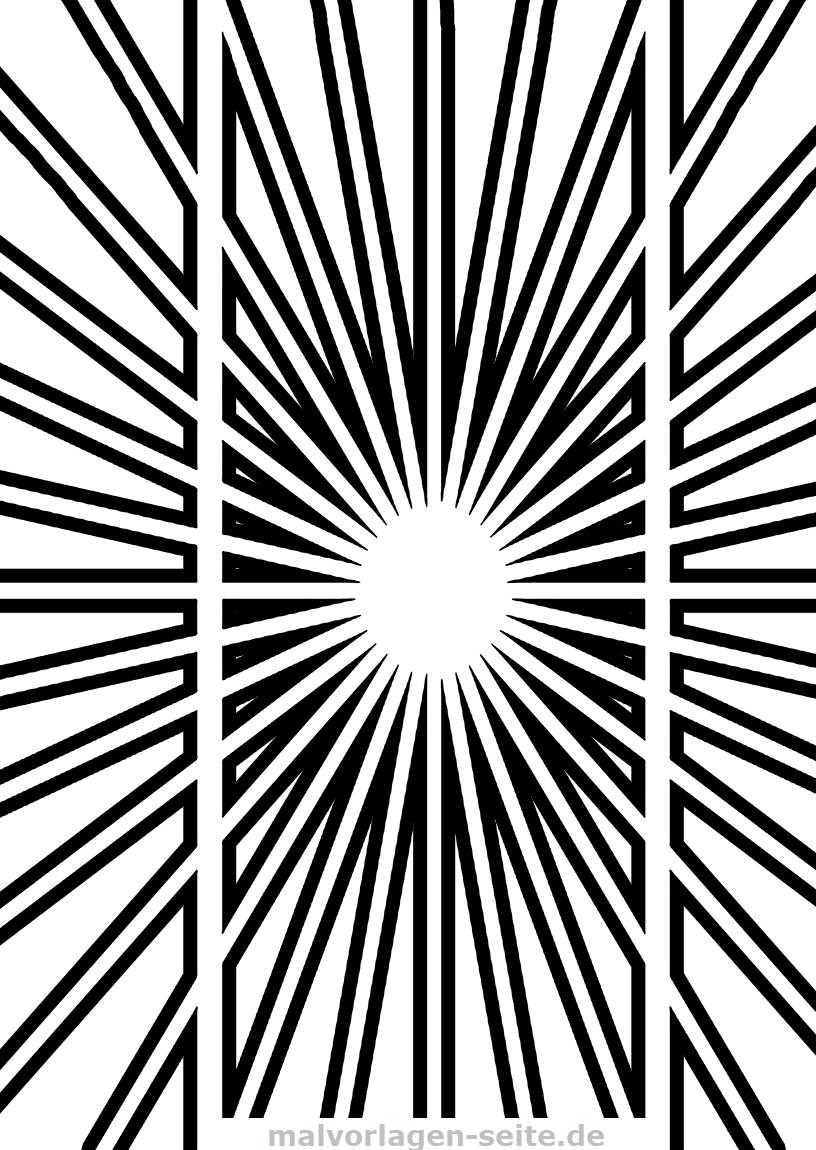 Optische Täuschung - Parallel oder nicht | Gratis Malvorlagen zum ...