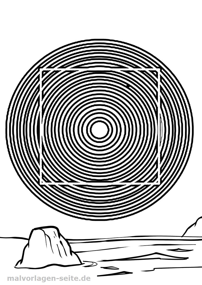 Optische Täuschung - Gerade oder gebogen | Gratis Malvorlagen zum ...