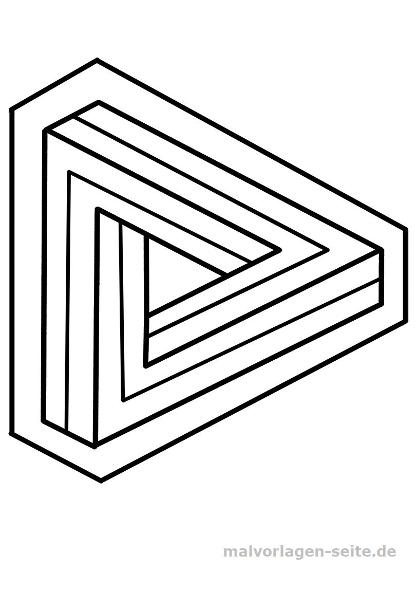 Optische Täuschungen und unmögliche Figuren - Paradoxa Zeichnungen