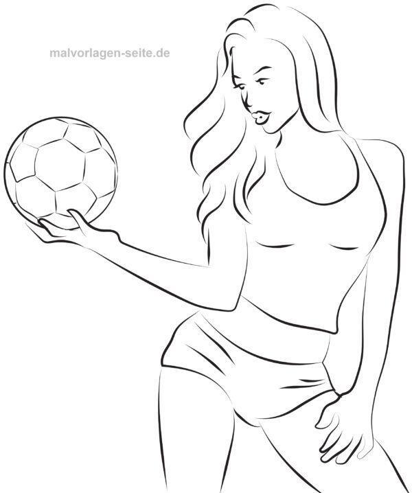 Malvorlage / Ausmalbild Mode Fußball