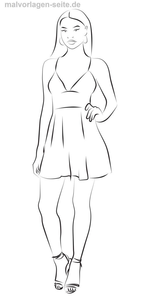Coloring page dress