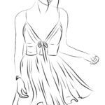 Modelo de pintura top model coloring color page dress