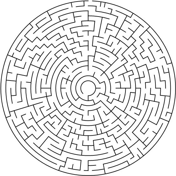 Labyrinth Für Erwachsene Gratis Malvorlagen Zum Download