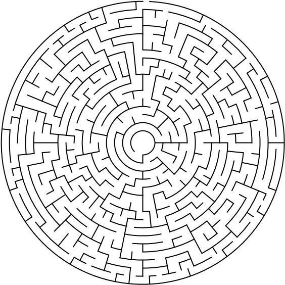 labirinto para adultos páginas para colorir grátis para download
