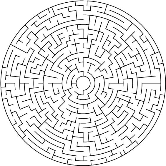 Labyrinth für Erwachsene zum Ausdrucken