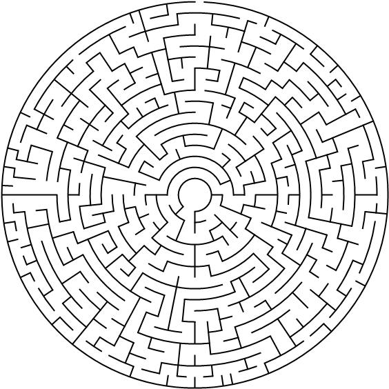 Labirinto per adulti da stampare