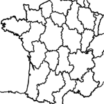 Map France for coloring