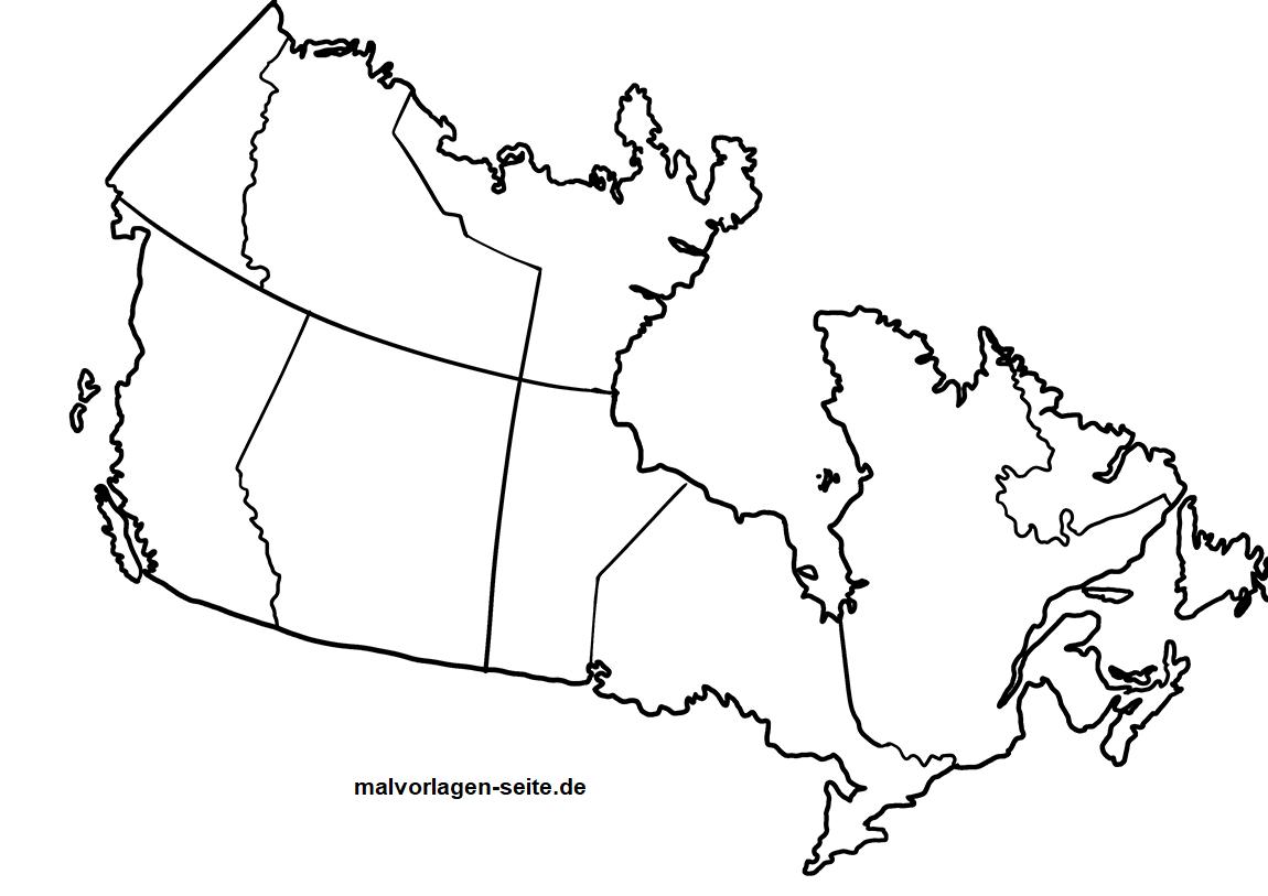 Landkarte Kanada Zum Ausmalen