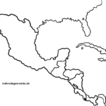 Map Central America for coloring