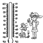 Coloring page thermometer | Weather