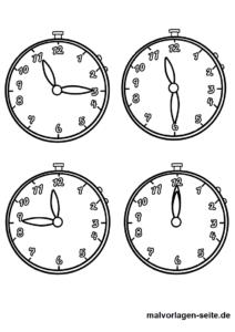 Malvorlagen Uhr Uhrzeiten Gratis Malvorlagen Zum Download