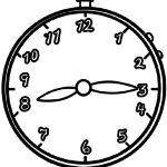 Coloring page clock | times