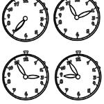 Malvorlage Uhrzeiten