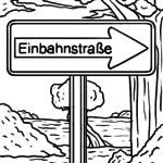 Verkehrszeichen Einbahnstraße