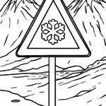 Traffic Sign Caution Smoothing Coloring Template