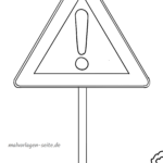 Traffic sign attention Coloring page