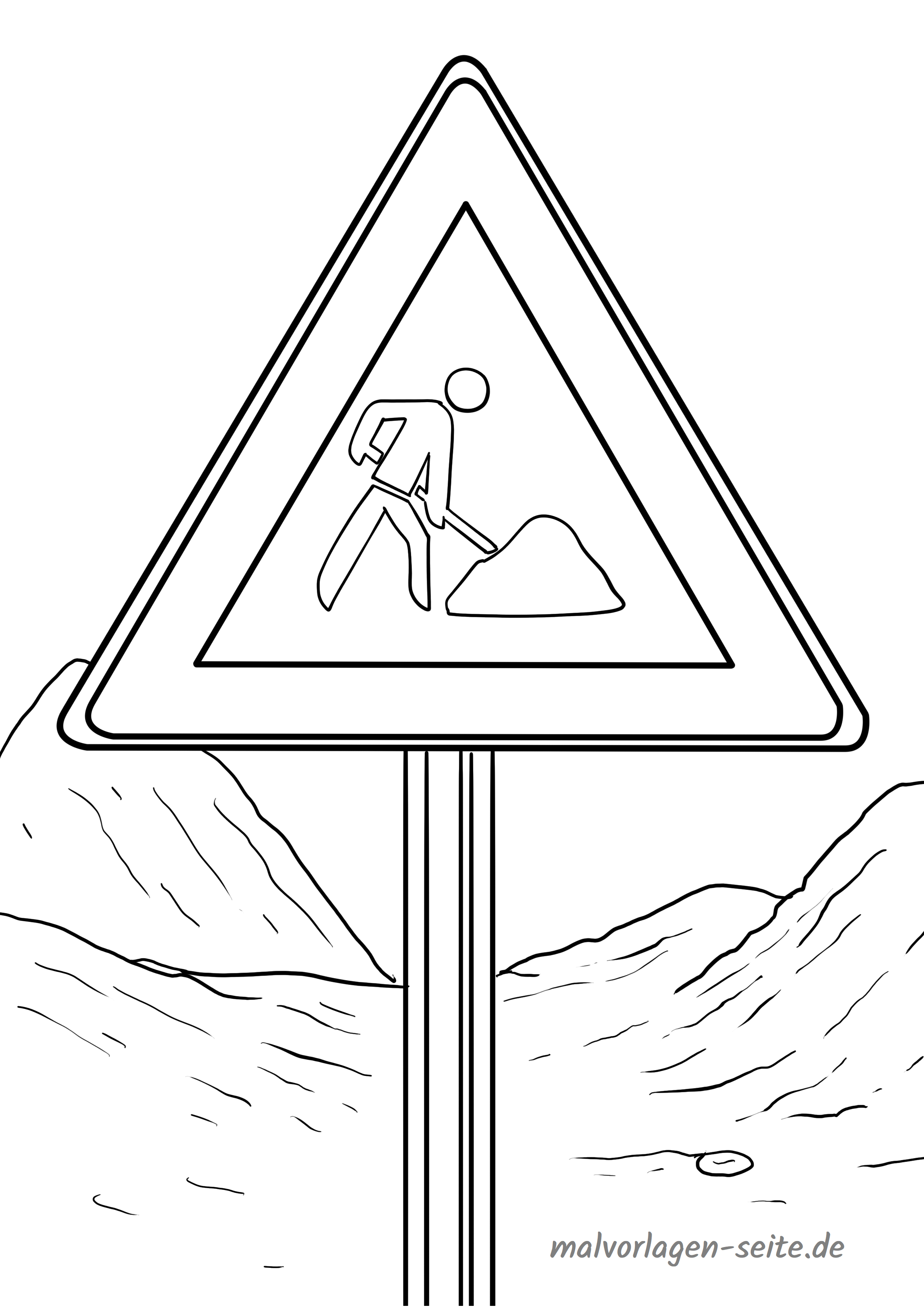 Verkehrszeichen Malvorlage Baustelle Gratis Malvorlagen Zum Download