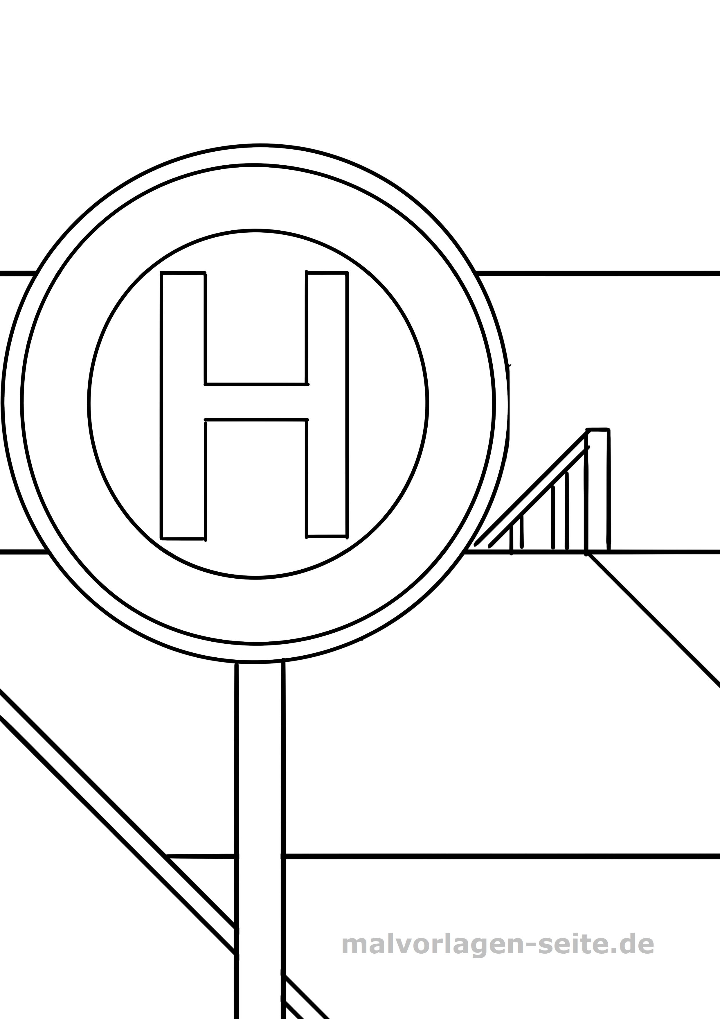 arbeitsblatt verkehrszeichen zum ausmalen