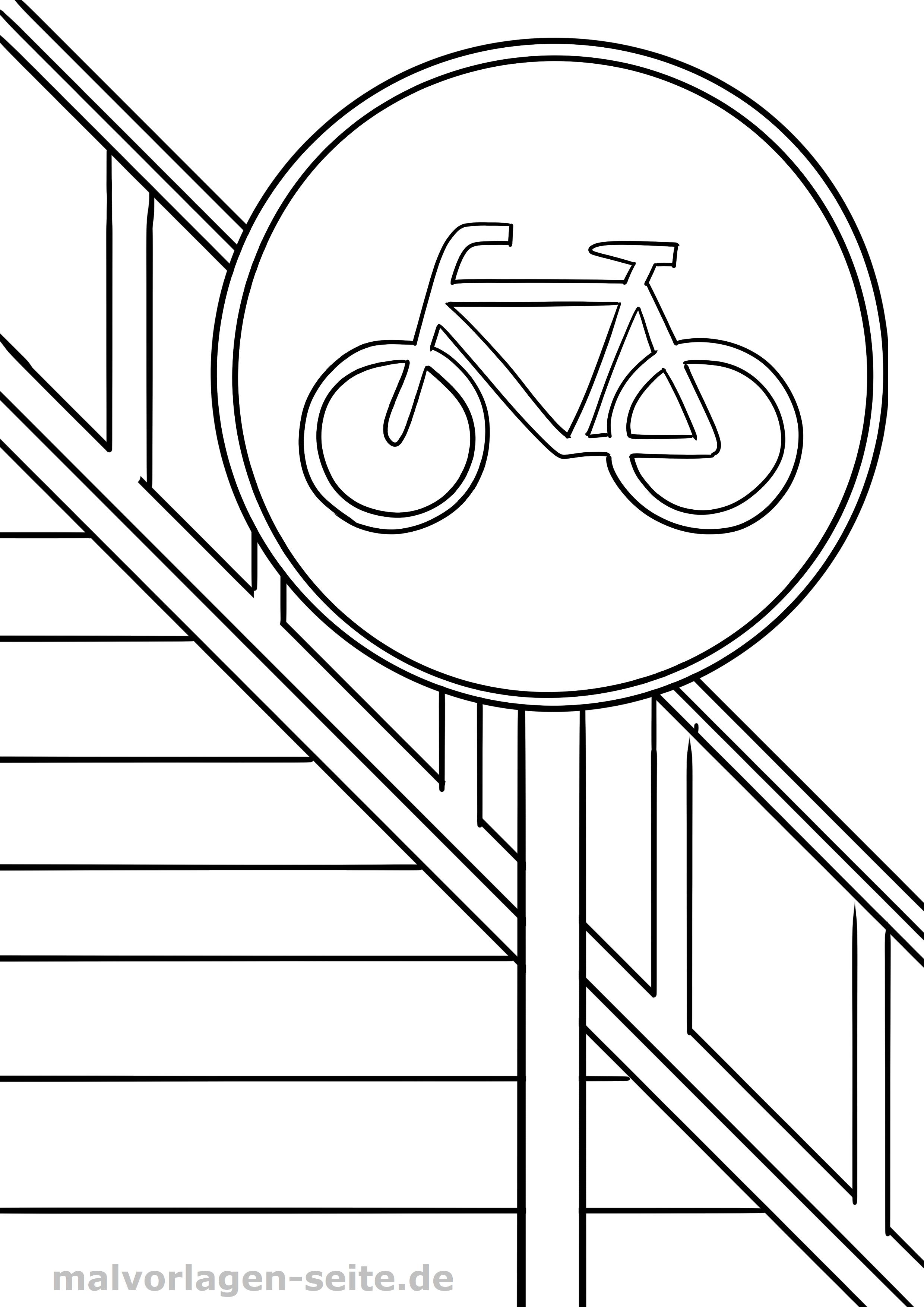 Verkehrszeichen Radweg Malvorlage Gratis Malvorlagen Zum Download