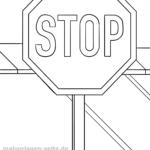 Verkehrszeichen Malvorlagen