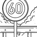 Verkehrszeichen Tempolimit Malvorlage