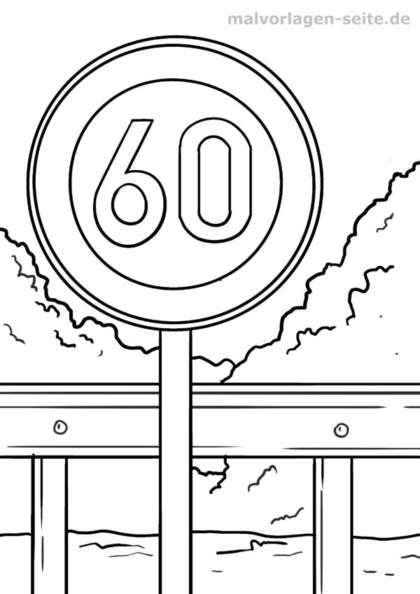 د رنګ کولو ټرافیک نشریه د سرعت محدوده