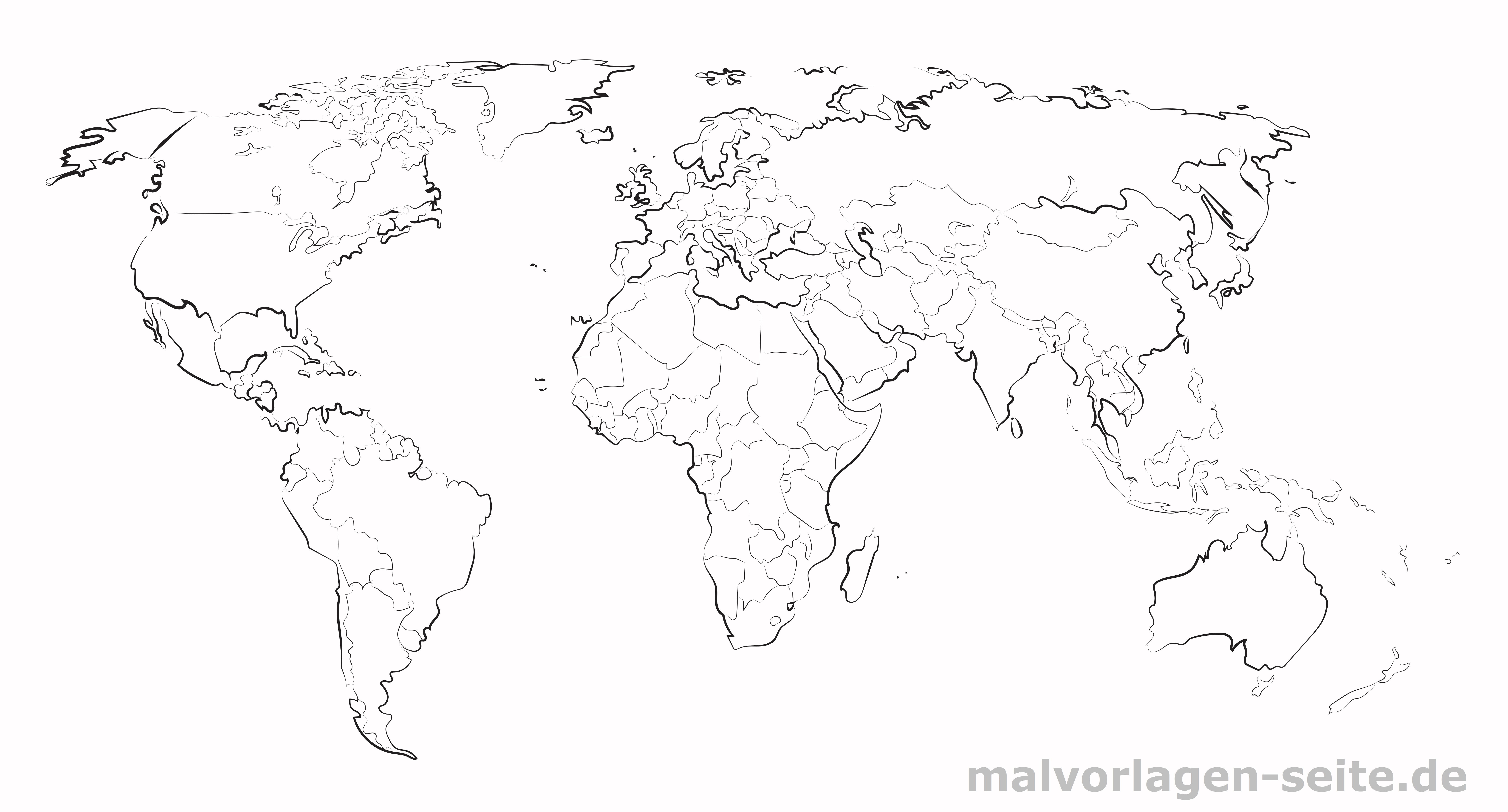 Grosse Weltkarte Zum Ausdrucken Und Selber Gestalten
