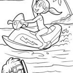 Coloring page jet ski | Vehicles holiday