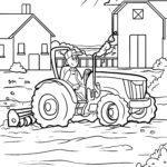 Omalovánka zemědělský traktor