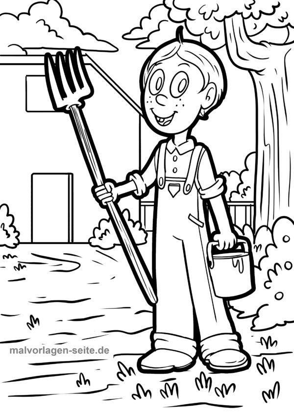 Coloring page on the farm