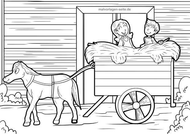 Bojanje stranice Farma djece u sijenu