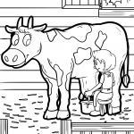 Cows coloring pages | Cow farm